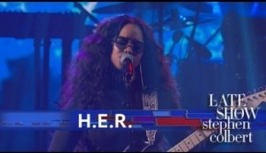 """H.e.r. Performs """"hard Place"""" Live On The Late Show"""